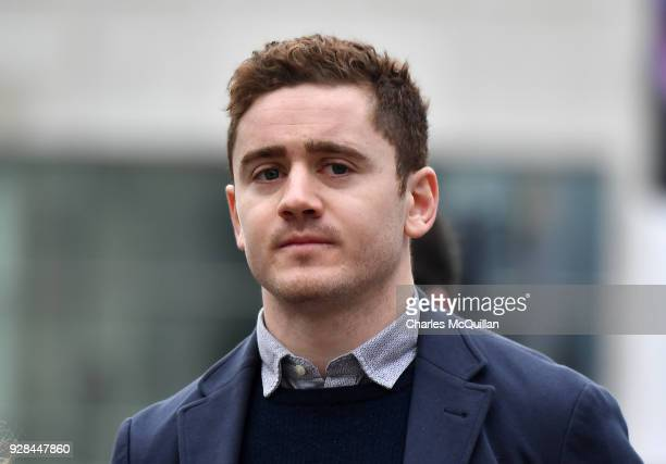 Paddy Jackson arrives at Belfast Laganside courts on March 7 2018 in Belfast Northern Ireland The Ireland and Ulster rugby player is accused of...
