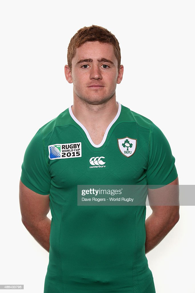 Paddy Jackson of Ireland poses for a portrait during the Ireland Rugby World Cup 2015 squad photocall on June 28, 2015 in Maynooth, Ireland.