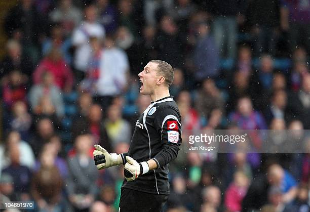 Paddy Kenny Goalkeeper of Queens Park Rangers celebrates at the final whistle during the npower Championship match between Crystal Palace and Queens...