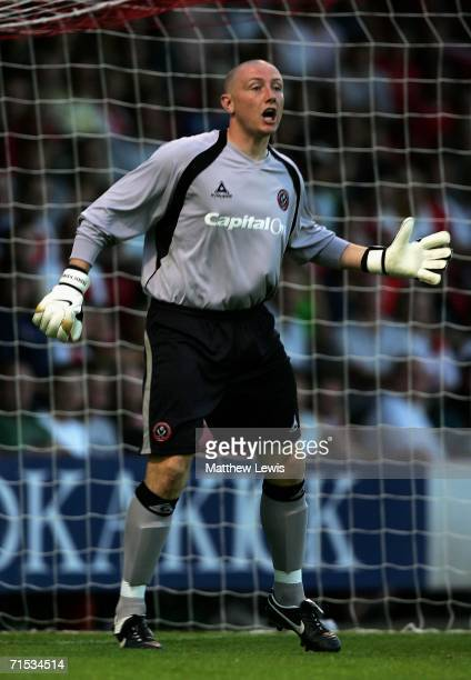Paddy Kenny of Sheffield United shouts in action during the Preseason Friendly match between Rotherham and Sheffield United at Millmoor on July 28...