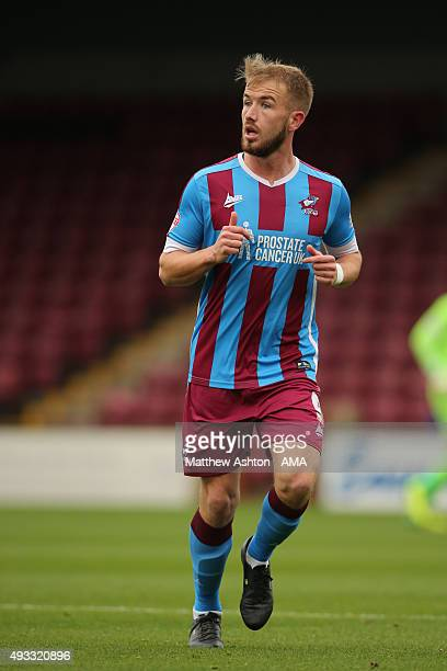 Paddy Madden of Scunthrope United during the Sky Bet League One match between Scunthorpe United and Shrewsbury Town at Glanford Park on October 17...