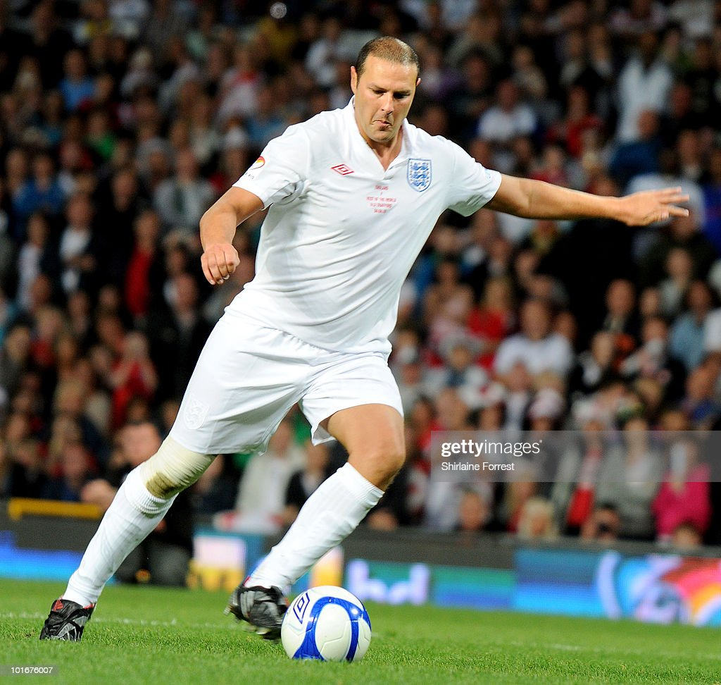 Paddy McGuiness participates in Soccer Aid in aid of UNICEF at Old Trafford on June 6, 2010 in Manchester, England.