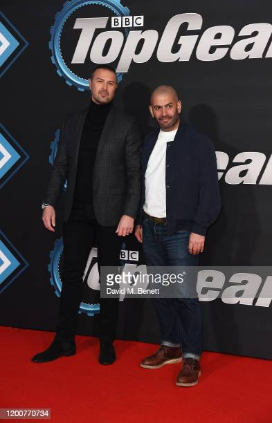 """Paddy McGuinness and Chris Harris attend the World Premiere of Series 28 of """"Top Gear"""" at Odeon Luxe Leicester Square on January 20, 2020 in London,..."""