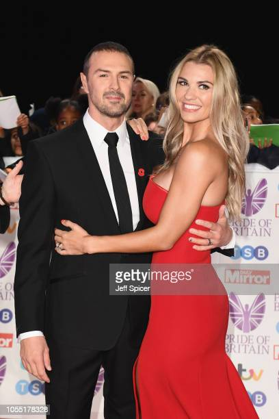 Paddy McGuinness and Christine Martin attend the Pride of Britain Awards 2018 at The Grosvenor House Hotel on October 29 2018 in London England