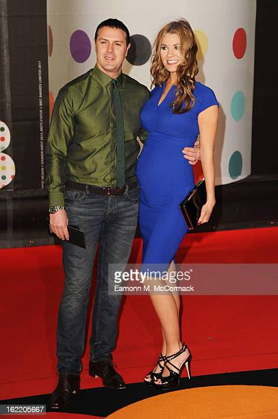 Paddy McGuinness and Christine McGuinness attend the Brit Awards 2013 at the 02 Arena on February 20 2013 in London England