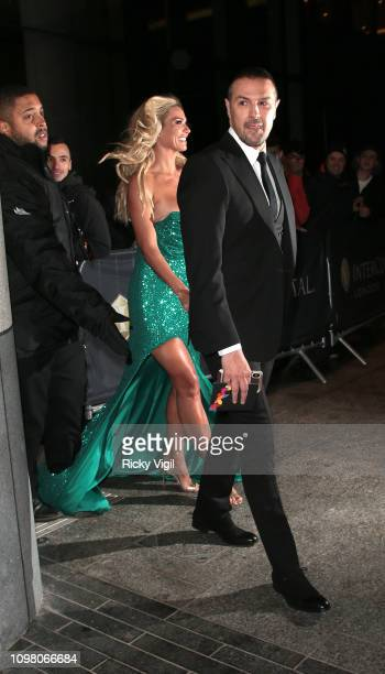 Paddy McGuinness and Christine McGuinness seen attending National Television Awards at The O2 on January 22 2019 in London England