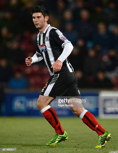 Paddy McLaughlin of Grimsby Town during their FA Cup First Round Replay against Scunthorpe United at Glanford Park on November 19 2013 in Scunthorpe...