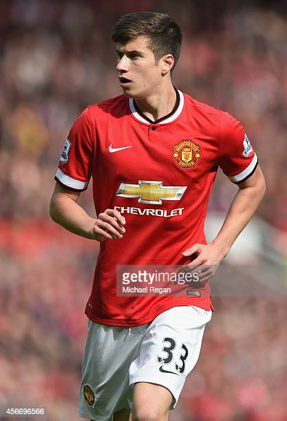 Paddy McNair of Manchester United during the Barclays Premier League match between Manchester United and Everton at Old Trafford on October 5 2014 in...