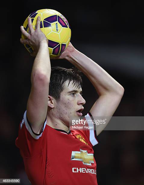 Paddy McNair of Manchester United in action during the Barclays Premier League match between Manchester United and Burnley at Old Trafford on...