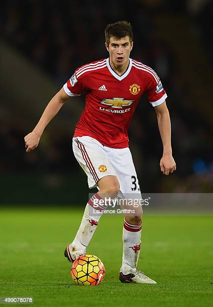 Paddy McNair of Manchester United in action during the Barclays Premier League match between Leicester City and Manchester United at The King Power...