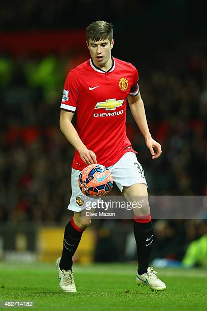 Paddy McNair of Manchester United on the ball during the FA Cup Fourth round replay match between Manchester United and Cambridge United at Old...