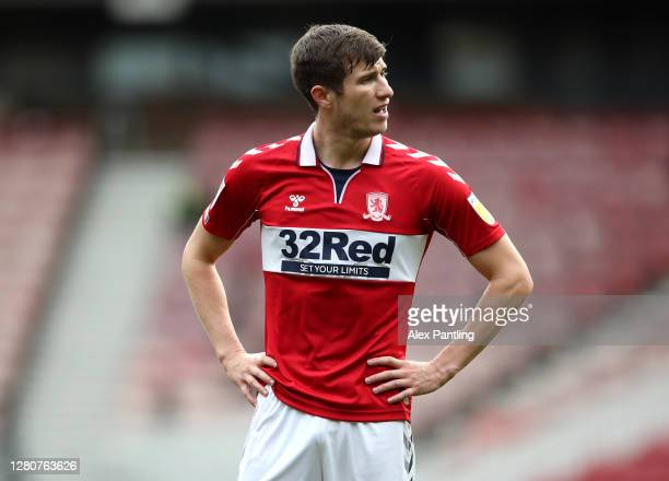 Paddy McNair of Middlesborough during the Sky Bet Championship match between Middlesbrough and Reading at Riverside Stadium on October 17 2020 in...