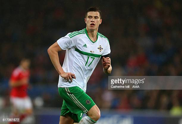 Paddy McNair of Northern Ireland during the International Friendly match between Wales and Northern Ireland at Cardiff City Stadium on March 24 2016...