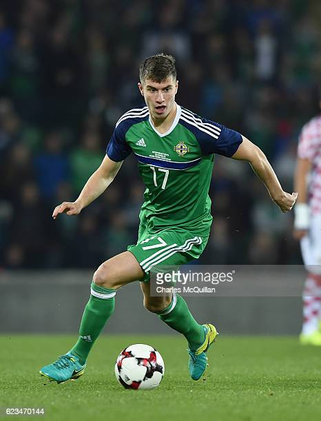 Paddy McNair of Northern Ireland during the international friendly fixture between Northern Ireland and Croatia at Windsor Park on November 15 2016...