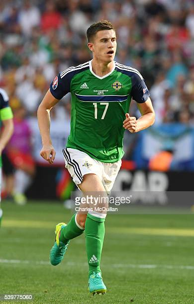 Paddy McNair of Northern Ireland during the UEFA EURO 2016 Group C match between Poland v Northern Ireland at Allianz Riviera Stadium on June 12 2016...
