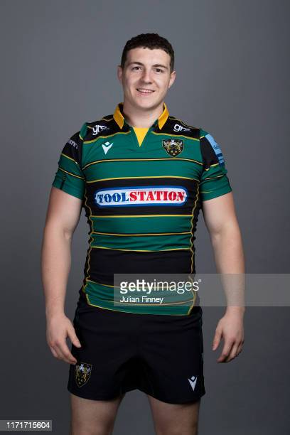 Paddy Ryan of Northampton Saints poses for a portrait during the Northampton Saints squad photocall for the 20192020 Gallagher Premiership Rugby...