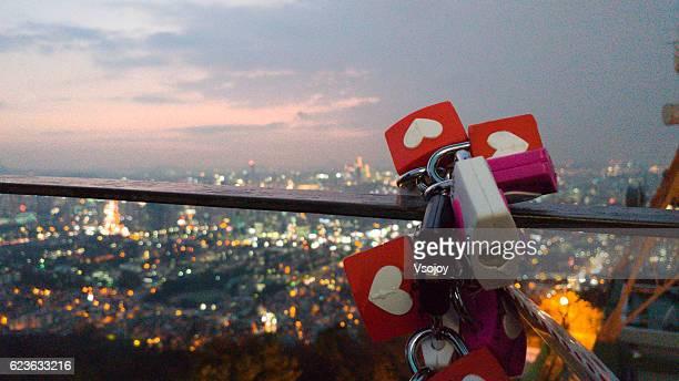 Padlock of love N Seoul Tower