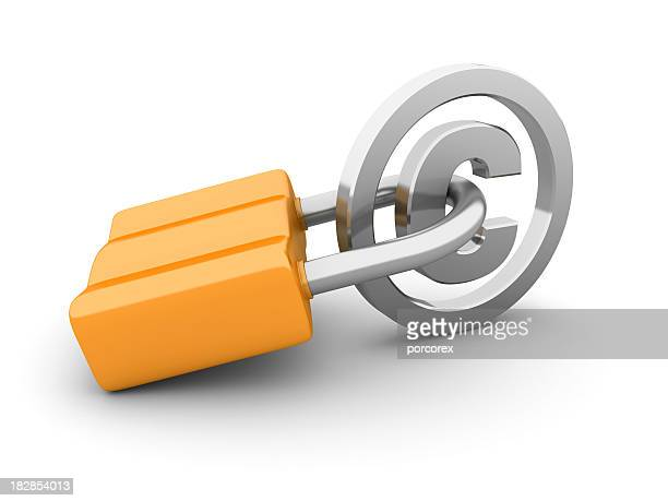 Padlock with Copyright Symbol