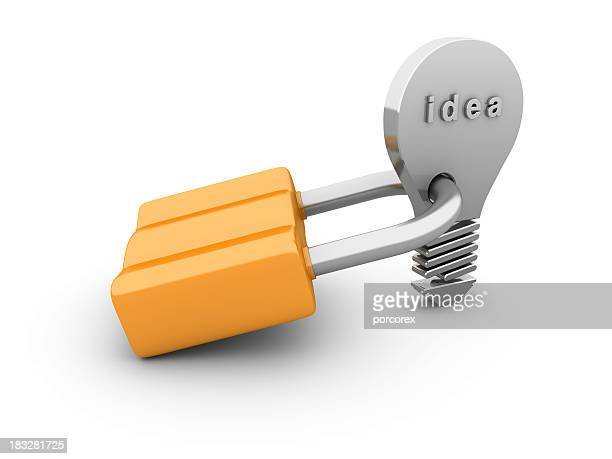 Padlock with Light Bulb
