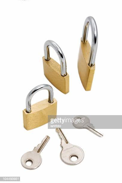 padlocks and keys.
