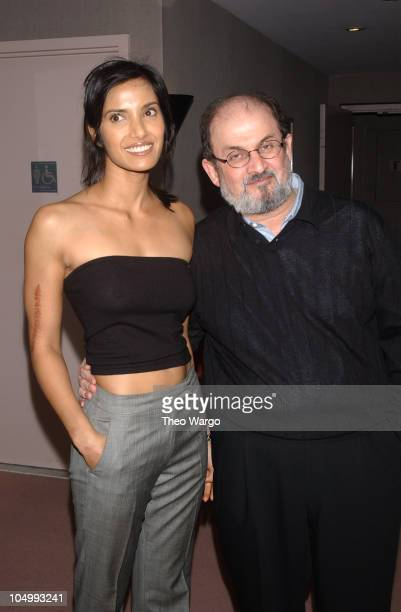 Padma and Salman Rushdie during I Am Sam screening at AOL/Time Warner Screening Room at AOL/Time Warner Screening Room in New York City New York...