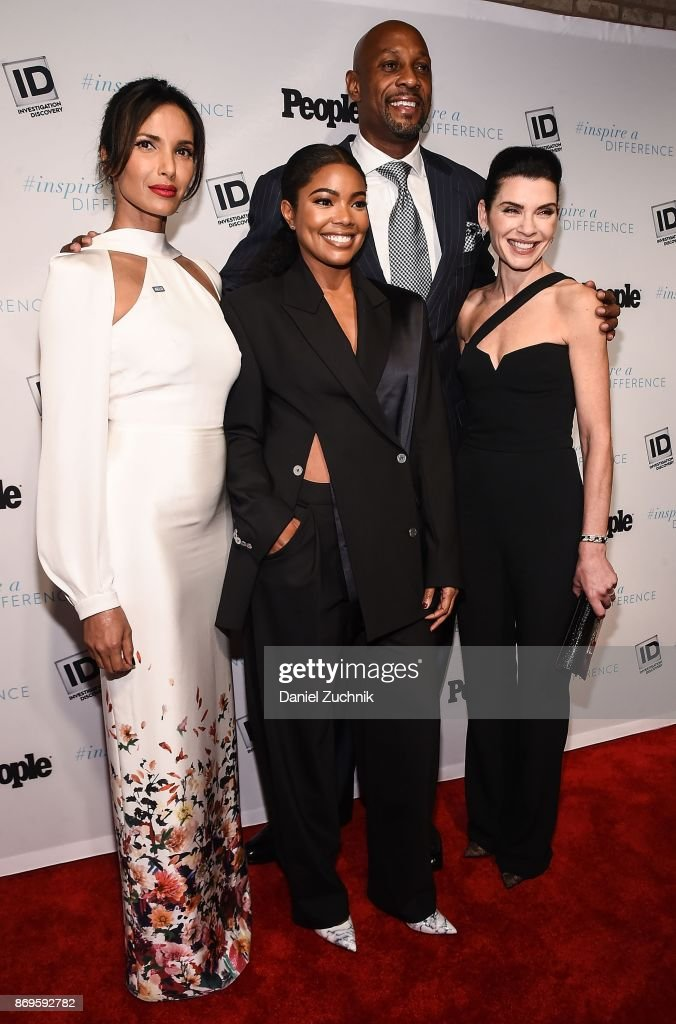 Padma Lakshmi, Alonzo Mourning, Gabrielle Union and Julianna Marguilies attend the 2017 Inspire A Difference Honors Event at Dream Hotel on November 2, 2017 in New York City.