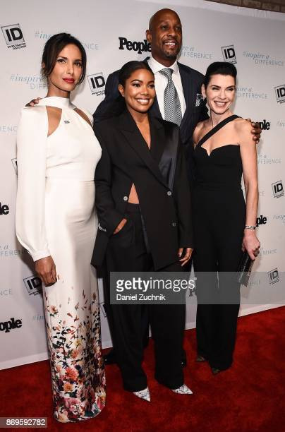 Padma Lakshmi Alonzo Mourning Gabrielle Union and Julianna Marguilies attend the 2017 Inspire A Difference Honors Event at Dream Hotel on November 2...