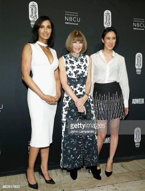 Padma Lakshmi American Vogue EditorinChief Dame Anna Wintour and Eva Chen attend 28th Annual Adweek Brand Genius Gala at Cipriani 25 Broadway on...