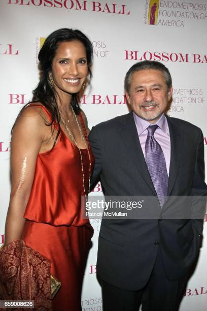 Padma Lakshmi and Dr Tamer Seckin attend The BLOSSOM BALL To Benefit The Endometriosis Foundation of America at The Prince George Ballroom on April...