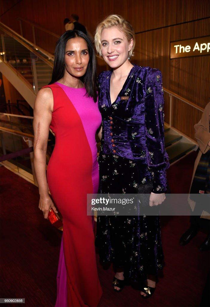Padma Lakshmi and Greta Gerwig attend the 2018 Time 100 Gala at Jazz at Lincoln Center on April 24, 2018 in New York City.Ê