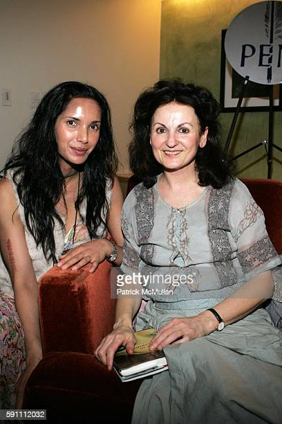 Padma Lakshmi and Hanan al Shaykh attend W Hotel Hosts Renowned Author Salman Rushdie and Lebanese Feminist Author Hanan al Shaykh as part of Pen...