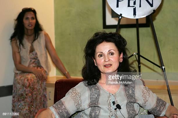 Padma Lakshmi and Hanan al Shaykh attend W Hotel Hosts Renowned Author Salman Rushdie and Lebanese Feminist Author Hanan al Shaykh as part of Pen...