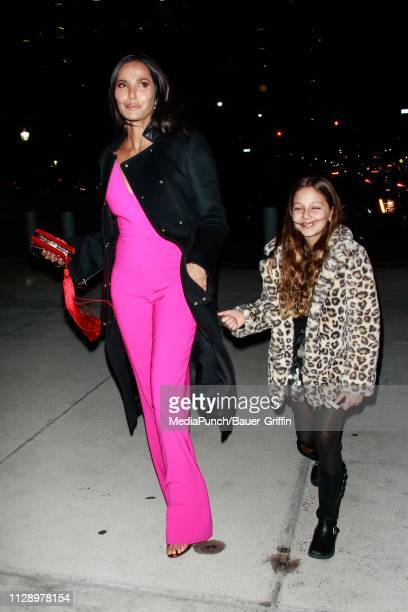 Padma Lakshmi and Krishna Thea LakshmiDell are seen on March 06 2019 in New York City