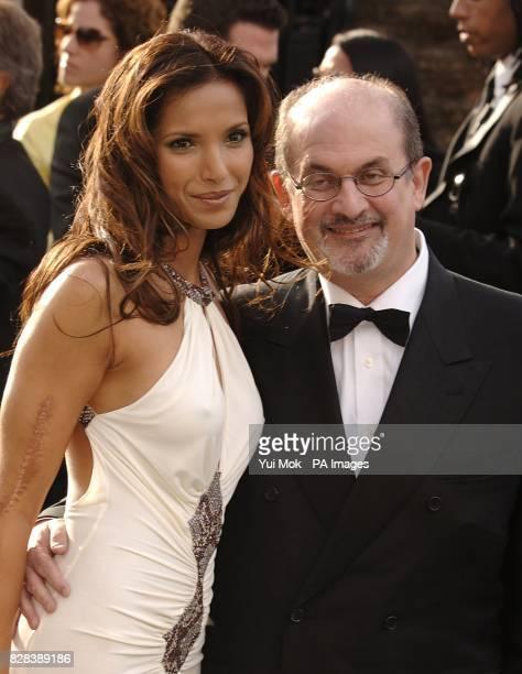 Padma Lakshmi and Salman Rushdie arrive on the red carpet