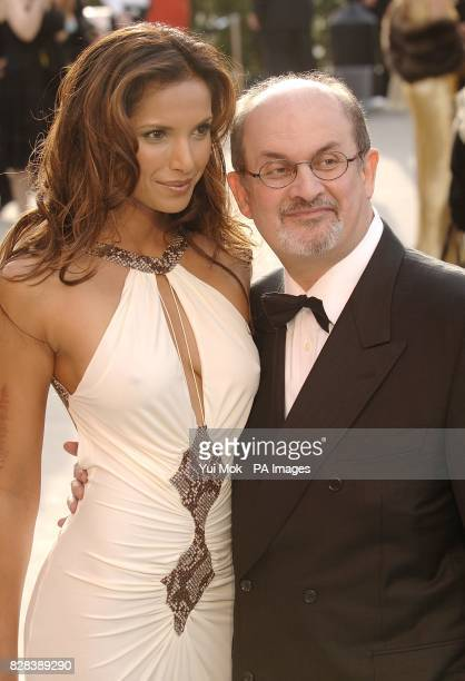Padma Lakshmi and Salman Rushdie arrive on the red carpet
