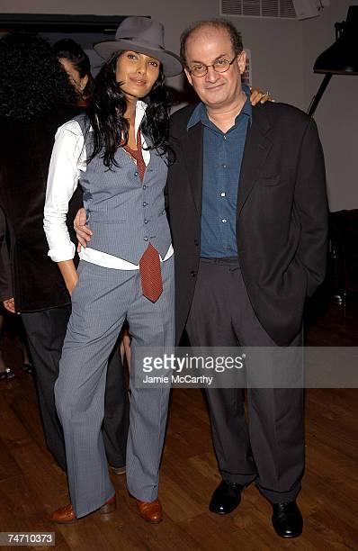 Padma Lakshmi and Salman Rushdie at the Soho House in New York City New York