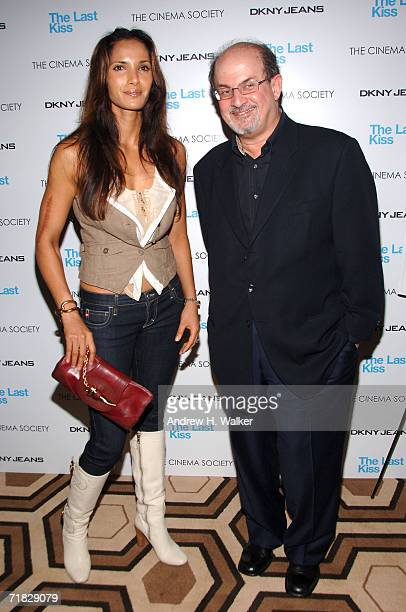 Padma Lakshmi and Salman Rushdie attend Cinema Society DKNY Jeans' screening of The Last Kiss on September 8 2006 in New York City