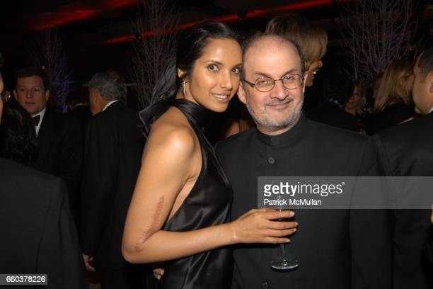 Padma Lakshmi and Salman Rushdie attend Grand Opening Celebration of the Time Warner Center at Time Warner Center on February 4 2004 in New York City
