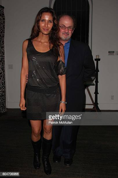 Padma Lakshmi and Salman Rushdie attend Marie Antoinette Screening at Tribeca Grand NYC on September 18 2006