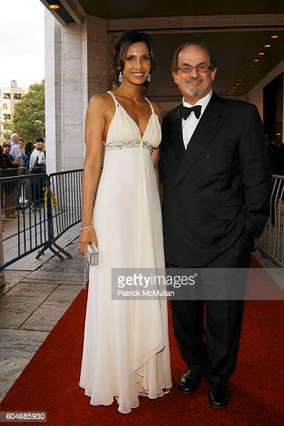 Padma Lakshmi and Salman Rushdie attend Metropolitan Opera Opening Night Red Carpet Arrivals at Lincoln Center on September 25 2006 in New York City