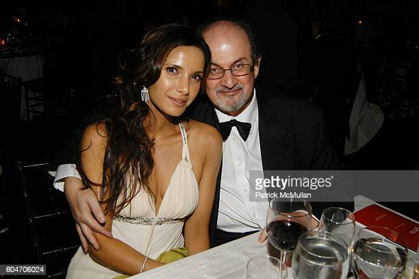 Padma Lakshmi and Salman Rushdie attend Metropolitan Opera Opening Night Dinner at Lincoln Center on September 25 2006 in New York City