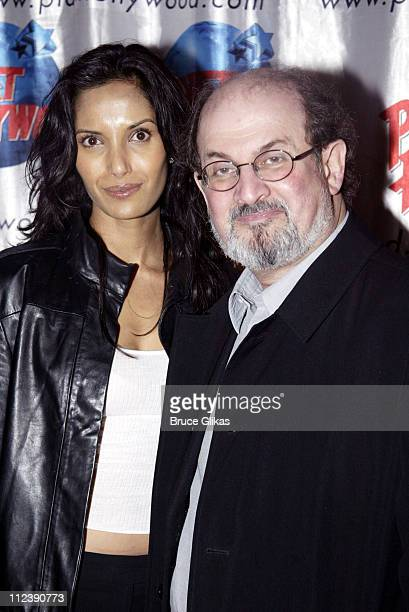 Padma Lakshmi and Salman Rushdie during Bill Maher Victory Begins at Home Party at Virginia Theatre in New York City New York United States