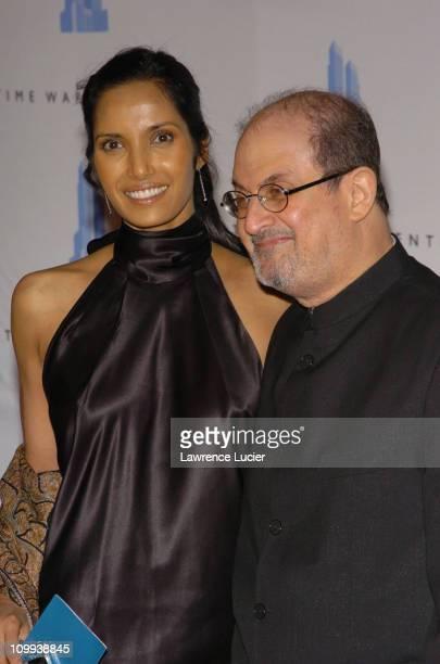 Padma Lakshmi and Salman Rushdie during Grand Opening Celebration of Time Warner Center at Time Warner Center in New York City New York United States