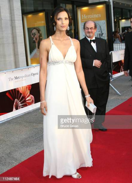 Padma Lakshmi and Salman Rushdie during Madama Butterfly Opening Night Starting the Lincoln Center Metropolitan Opera 20062007 Season at Lincoln...
