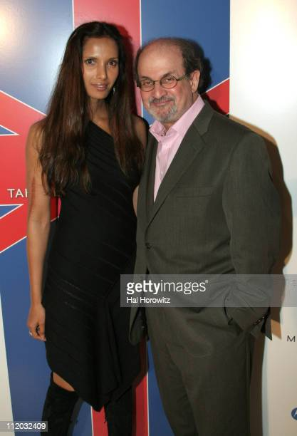 Padma Lakshmi and Salman Rushdie during Vogue Takes London to New York at Avalon in New York City New York United States