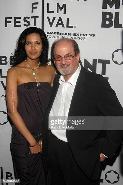 Padma Lakshmi and Salmon Rushdie attend Montblanc de la Culture Awards at Angel Orensanz Foundation Center for the Arts on May 2 2007 in New York City