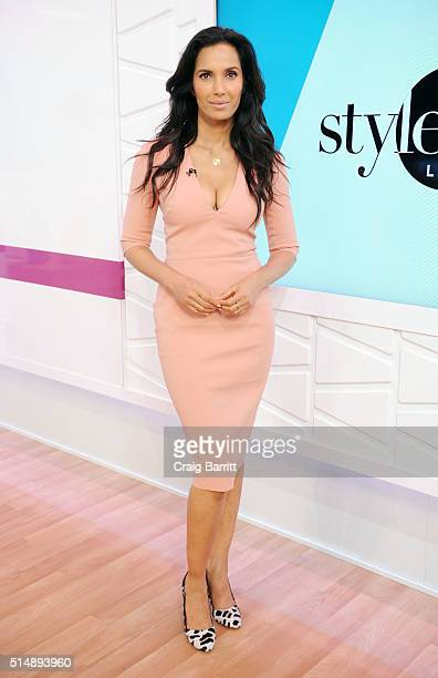 Padma Lakshmi appears on Amazon's new live stream show 'Style Code Live' on March 09 2016 in New York City