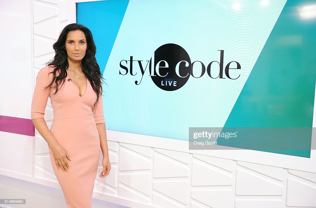 Padma Lakshmi appears on Amazon's new live stream show, 'Style Code Live' on March 09, 2016 in New York City.
