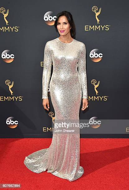 Padma Lakshmi arrives at the 68th Annual Primetime Emmy Awards at Microsoft Theater on September 18, 2016 in Los Angeles, California.