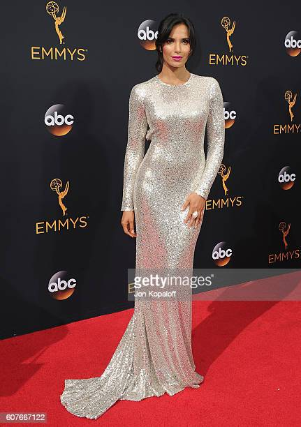 Padma Lakshmi arrives at the 68th Annual Primetime Emmy Awards at Microsoft Theater on September 18 2016 in Los Angeles California